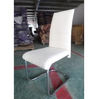 Quality Classic High Back Leather Dining Chairs , Traditional Dining Chairs Black Color wholesale