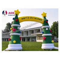 Quality Christmas Air Blown Santa Tree Inflatable Holiday Decor Archway Tunnel For Rental wholesale