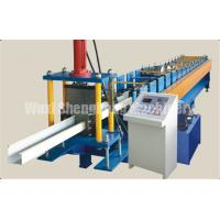 Quality Galvainzed Metal Channel Roll Forming Machine , Steel Gutter Forming Machine wholesale