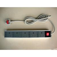 Quality 5 Outlet European Power Strip With Extension Cords , Flat Plug Power Strip 250V wholesale