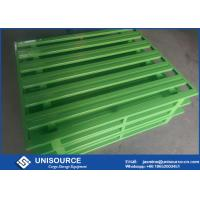 Quality Professional Green Steel Storage Pallets , Heavy Duty Stackable Metal Pallets wholesale