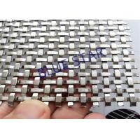 Quality Custom Decorative Metal Screen Mesh , Decorative Woven Wire Mesh For Cabinet Doors wholesale