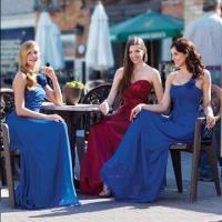 Quality One-shoulder Chiffon Floor-length Bridesmaid Dress, All Colors are Available wholesale