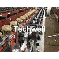 Quality PLC Frequency Control PU Foam Roller Shutter Slat Machine With Guiding Column Forming Frame Structure wholesale