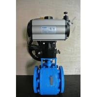 China Pneumatic On Off  Ceramic Ball Valves DN25-DN200 With ISO 9001 Pneumatic Air Control Valve on sale