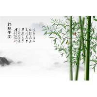 Quality High Glossy Surface Bamboo Fiber Wall Panels Verdant Bamboos Pattern wholesale