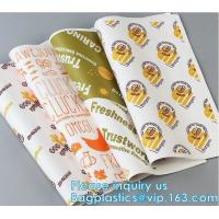 Quality New Waterproof Craft Color Print Gift Wrap A4 Fast Food Sandwich Products Wrapping Kraft Paper, wholesale