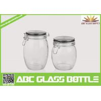 Cheap Wholesale glass jars with rubber seal lids for sale