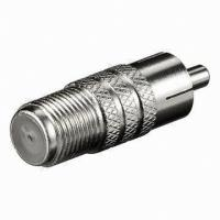China f female to rca male connector, multiple rca to f type connector on sale