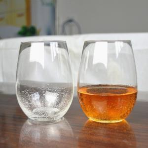 China 500ml Transparent Stemless Whiskey Tumbler Glasses , Wine Glass Tumbler on sale