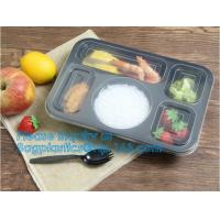 Quality 3 compartment plastic food storage Microwave Freezer Safe Plastic Disposable lunch box,Fast food container disposable ta wholesale