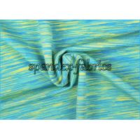 Quality Weft Knitting Terylene Elastane Sportswear Fabric Green Blue Yellow Mix Color wholesale