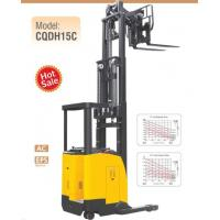 Quality 1.5 Ton Load Capacity Electric Stacker Truck With Double Scissor , Electric Seated Reach Truck Forklift wholesale