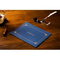 Quality Hot Stamping Rally Blue Document And Certificate Holder CE / SGS Approved wholesale