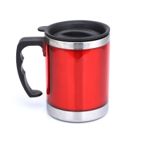 Quality Plastic Handle BSCI 13 Ounce Stainless Steel Insulated Mug wholesale