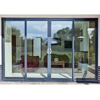 Cheap Modern House Security Aluminium Sliding Glass Doors With Powder Coating hidden for sale