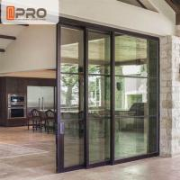 Quality Interior Aluminium Sliding Doors With Glass Inserts For Living Room aluminum sliding glass screen door wholesale