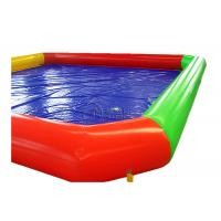 Quality 0.9mm PVC rectangle inflatable pool Inflatable Above Ground Pools For Renting wholesale