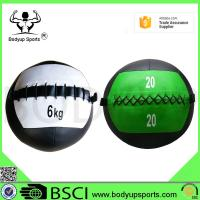 Quality PU Leather Crossfit Wall Ball , Medicine Wall Ball 4-30LB Weight wholesale