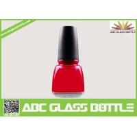 Quality 12ml square empty glass nail polish bottles with caps and brush wholesale