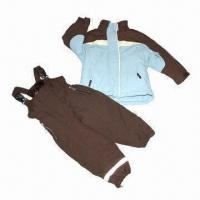 Quality Children's suit/skiwear, made of polyester fabric, waterproof and breathability wholesale