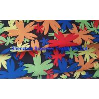 Quality Water Repellent Garment Poly Twill Fabric  Drill Microfiber Peach Skin Floral Printing wholesale