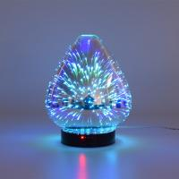 Quality 3D Color Glass Electronic Aroma Diffuser Essential Oil Aromatherapy Humidifier Aromatherapy Sprayer wholesale