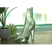 Cheap Home Decoration Fantastic Women High Heel Clear Glass Wine Bottle for sale