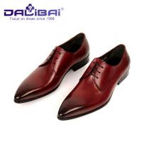 Quality Genuine Leather Pointed Toe Wedding Formal Dress Shoes Men's Italian design wholesale