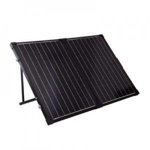 China 120 Watt Black Solar PV Panels / Foldable Solar Panel With Metal Handle on sale