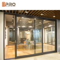 Quality Thermal Break Aluminium Sliding Glass Doors Color Optional With Security System interior door sliding sliding door frame wholesale