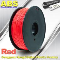 Quality 1.75mm /  3.0mm ABS 3d Printer Filament Red With Good Elasticity wholesale