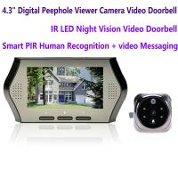 "Cheap 4.3"" LCD Electronic Door Peephole Viewer Camera Home Security DVR Night Vision for sale"