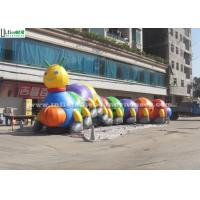 China Outside 18m Long Funny Caterpillar Inflatable Tunnels Double N Quadruple Stitching on sale
