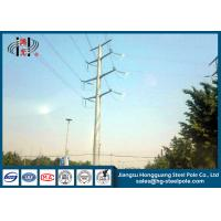 China 66KV Hot Dip Galvanized Highway Electrical Power Pole for Power Transmission Line on sale