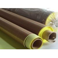 Cheap Anti -  aging Adhesive + Paper PTFE Coated Fiberglass Fabric  Smooth Surface for sale