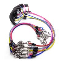 China Steel Wire Rope Dog Tie Out Cable Safety Pet Leashes PU Coated Comfortable on sale