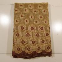 Quality Coffee Double Organza Lace Fabric With Stones wholesale