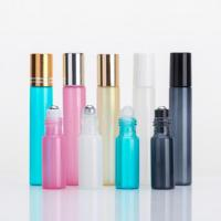 Quality Factory Price 5ml 10ml Colorful Cosmetic Glass Roll-on Bottle Essential Oil Bottle wholesale