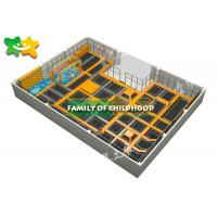 Quality Indoor Trampoline Park Equipment , Kids Exercise Trampoline Easy Installation wholesale