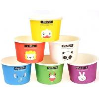 China Gelato Paper Cup Icecream Paper Cup With Lids,4oz paper ice cream single serving cups,Logo Printed Disposable Icecream P on sale