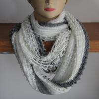Quality Acrylic yarns warp knitting neck scarves/scarf in stripe style wholesale