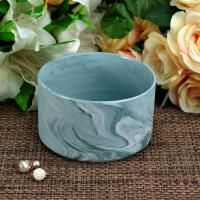 Quality Handmade Marble Candle Container / candle holders large Recyclable wholesale