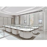 Quality Matte White Jewelry Store Display Cases , Jewellery Display Counter wholesale