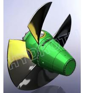 Quality Horizontal Kaplan Turbine Bulb Hydro Turbine / water turbine with double Regulator Speed Governor wholesale