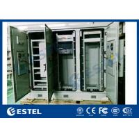 IP55 Triple Bay Racking Outdoor Telecom Enclosure With Air Conditoner Cooling System