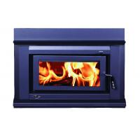 Quality High Heat Output Inset Wood Burning Stoves / Built In Wood Fireplace 17KW wholesale