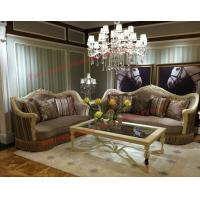 Quality Luxury Design and Romantic Sofa set made by Wooden Carving Frame with Fabric Upholstery wholesale