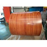 China Wooden Grain Color Coated Steel Coil For Department Store Roofing Tiles on sale