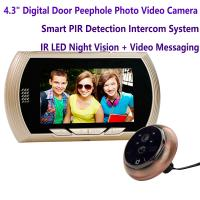 "Quality 4.3"" Digital Door Peephole Viewer Photo Video Camera Recorder Home Security Smart PIR Video Doorbell IR LED Night Vision wholesale"